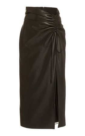 Malorie Ruched Faux-Leather Skirt By Nanushka | Moda Operandi