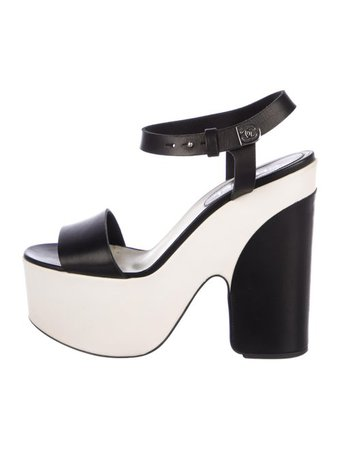 Chanel CC Leather Sandals - Shoes - CHA281567   The RealReal