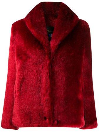 Red La Seine & Moi faux fur coat - Farfetch