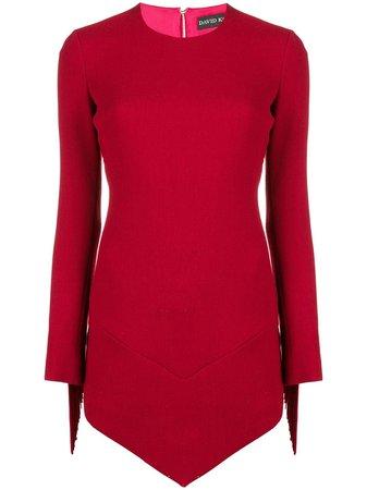 David Koma Asymmetric Fringed Dress   Farfetch.com