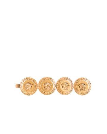 VERSACE Logo Hair Clip in Gold | FWRD