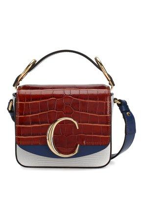 Женская сумка chloé c mini CHLOÉ синего цвета — купить за 92450 руб. в интернет-магазине ЦУМ, арт. CHC19WS193C01