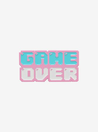 Game Over Pastel Enamel Pin