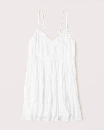 Women's Tiered Mini Dress | Women's New Arrivals | Abercrombie.com