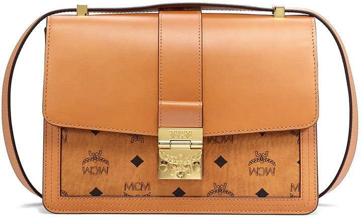 Medium Tracy Visetos & Leather Shoulder Bag