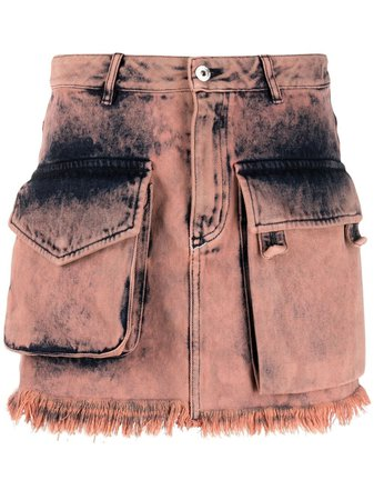 Shop pink Marques'Almeida acid-wash mini skirt with Express Delivery - Farfetch