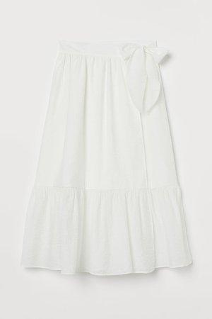 Bow-detail Skirt - White
