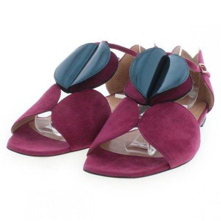 Purple Suede Sandals