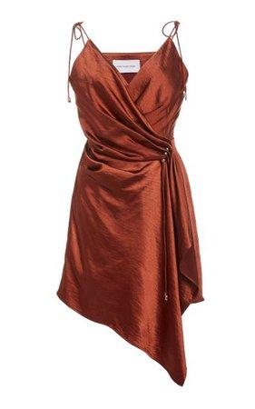 Goldie Draped Satin Slip Dress By Significant Other   Moda Operandi