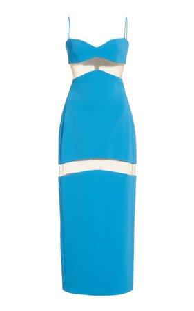 Illusion-Paneled Crepe Midi Dress By David Koma   Moda Operandi