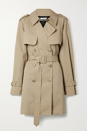 Cotton-blend Trench Coat - Beige