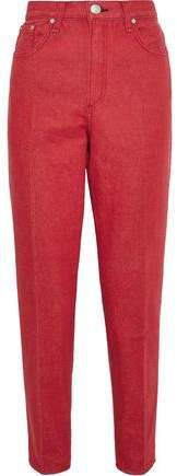 Ash High-rise Tapered Jeans