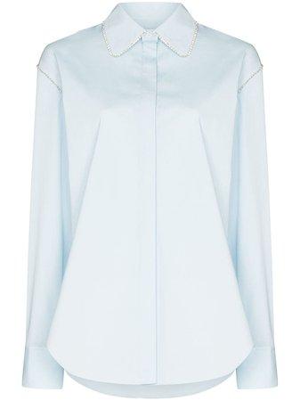 AREA Блузка с Кристаллами - Farfetch