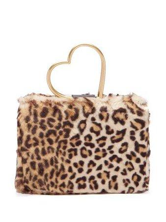Nancy leopard-print faux-fur bag | Shrimps | MATCHESFASHION.COM US