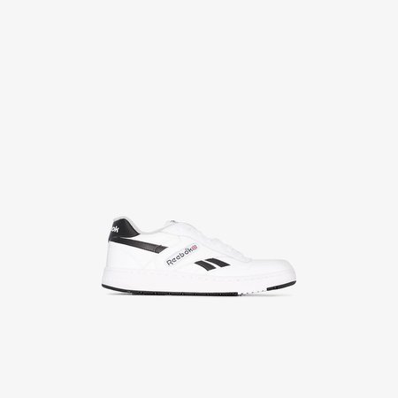 white BB 4000 leather low top sneakers