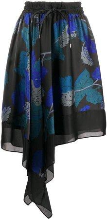 high waisted asymmetric skirt