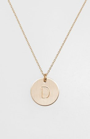 Nashelle 14k-Gold Fill Initial Disc Necklace | Nordstrom