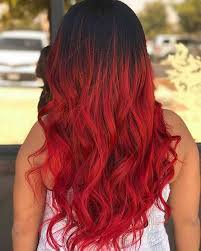 bright red hair with black roots - Google Search