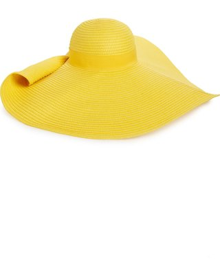 Hot Sale: Women's Nordstrom Drama Floppy Brim Straw Sun Hat - Yellow
