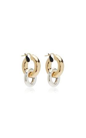 Elisha Gold-Plated Drop Hoop Earrings By Reggie | Moda Operandi