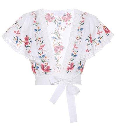 Laelia cross-stitched top