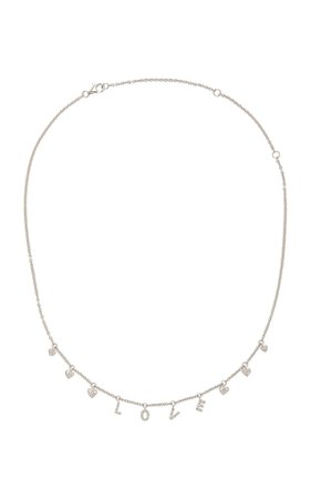 Shay 18K White Gold Diamond Necklace