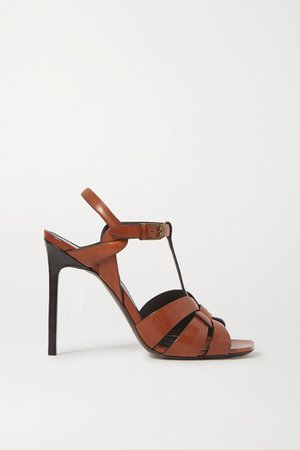 Tribute Woven Leather Sandals - Tan