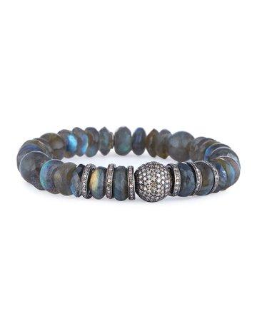 Sheryl Lowe Labradorite Mixed-Bead Bracelet