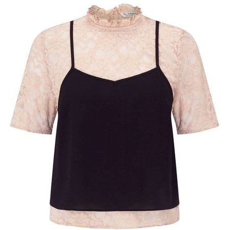 Miss Selfridge Lace Tee With a Cami
