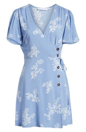 All in Favor Button Front Wrap Dress   Nordstrom