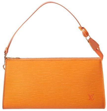 LOUIS VUITTON Orange Epi Pochette Handbag
