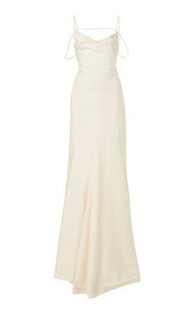 Camargue Tie-Detailed Linen Gown by Jacquemus | Moda Operandi