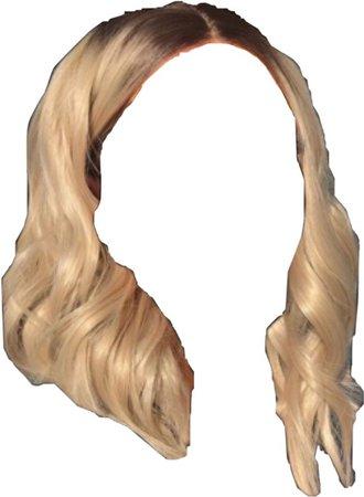 blonde wig hair
