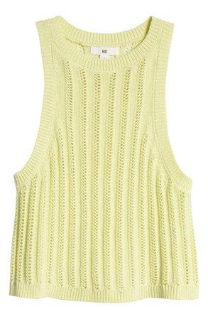BP. Organic Cotton Pointelle Sweater Tank   Nordstrom