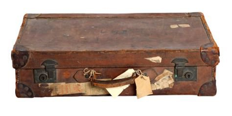 brown suitcase png filler travel vintage mood