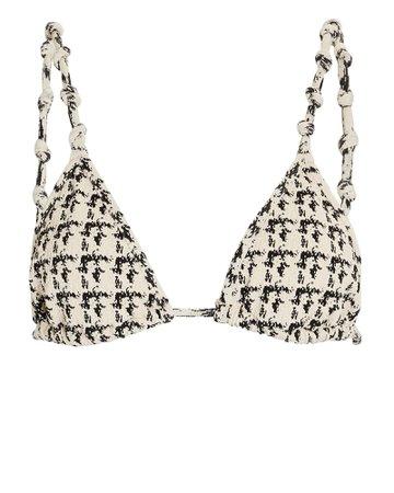 Devon Windsor Eden Houndstooth Bikini Top   INTERMIX®