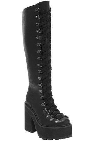 bloodletting knee high boots