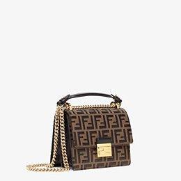 Brown leather mini-bag - KAN U SMALL | Fendi