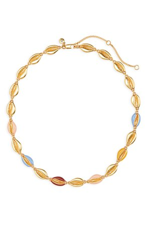 Madewell Enameled Cowrie Shell Necklace | Nordstrom