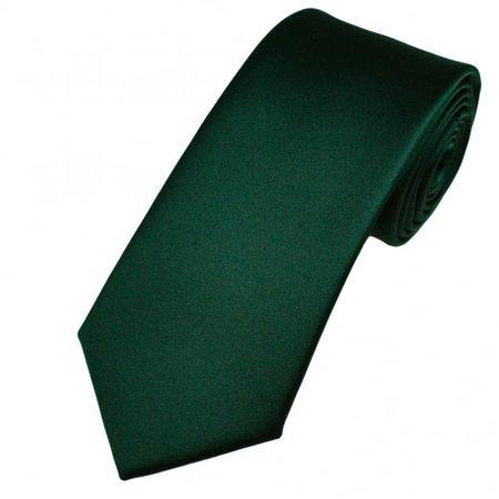 Plain Bottle Green Men's Satin Tie from Ties Planet UK