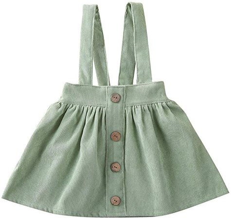 Amazon.com: Specialcal Baby Girls Velvet Suspender Skirt Infant Toddler Ruffled Casual Strap Sundress Summer Outfit Clothes (2-3T, Style E-Bean Green): Clothing