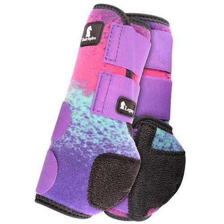 splint boots splash purple