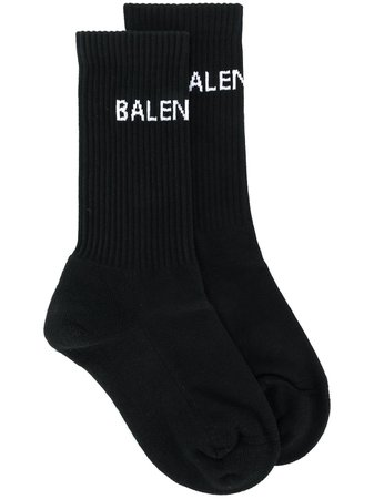 Black Balenciaga Logo Knit Socks | Farfetch.com