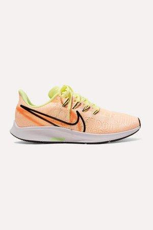 Air Zoom Pegasus 36 Premium Rise Flyknit Sneakers - Peach