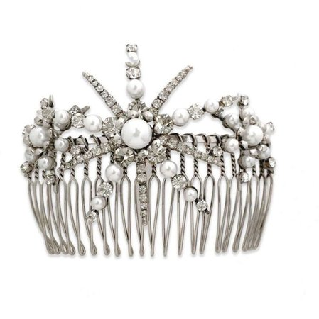 LELET NY STARLET PEARL AND CRYSTAL COMB