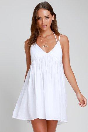 O'Neill Felix - White Swim Cover-Up - White Swim Dress - Cover-Up
