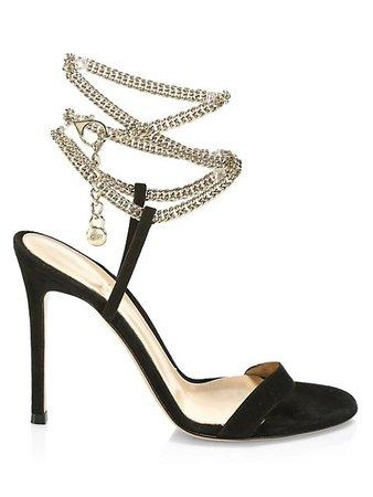 Gianvito Rossi Debbie Chain Leather Sandals | SaksFifthAvenue