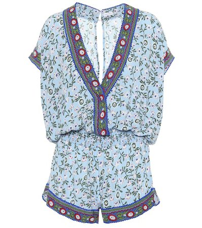 Margot printed playsuit
