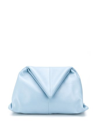 Bottega Veneta Triangular Fold Clutch 622712VCP30 Blue | Farfetch