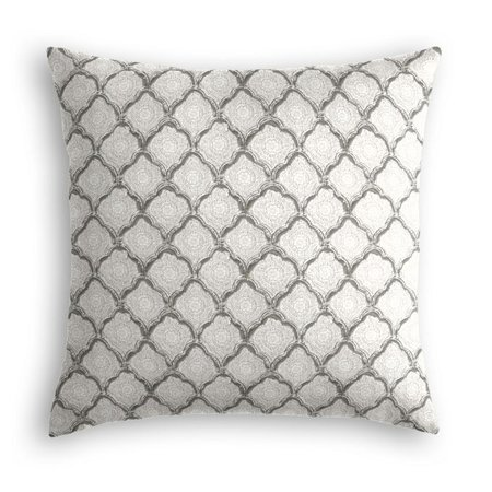 Gray Block Print Pillow | Loom Decor
